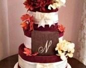 Custom Bridal Towel Cake