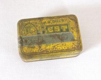 Vintage Yellow JG Dill's Best Tobacco Cut Plug Tin
