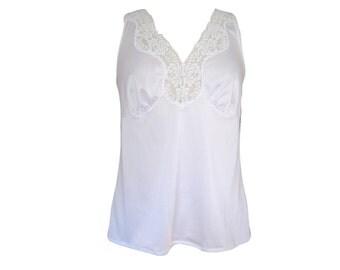 Camisole White Satiny Lace Babydoll Size Medium