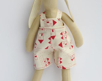 Stuffed bunny rabbit hare fabric bunny plush rabbit doll pastel softie stuffed toy baby shower and birthday gift for boy and girl