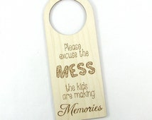 Door Hanger - Creative Wood Pyrography - Family Sign