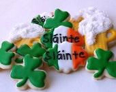 Mini St. Patrick's Day Toast Cookies - Slainte - Beer Mug - Shamrock
