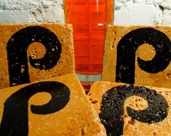 Handmade Stone Sports Coaster - Philadelphia Phillies Black 4 Pack
