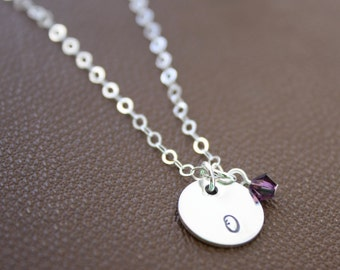 Baby Initial Necklace, Push Present Charm, New Mom Jewelry