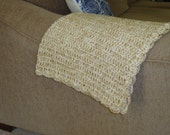"Double Stranded ""Linen"" Silky Soft Crochet Throw Blanket 50"" x 60"""