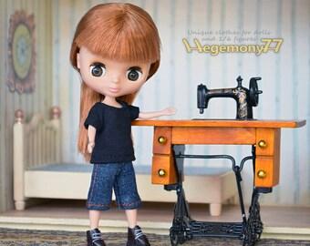Doll clothing set for Petite Blythe, Little Pullip, Little Dal