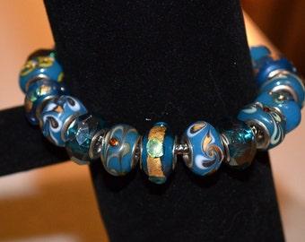 Blue Designs Beaded Bracelet