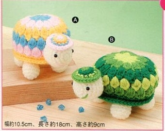 Huge Amigurumi Tortoise Turtle Plush Crochet Pattern PDF