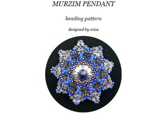 Murzim Pendant - Beading Pattern/ Tutorial - PDF file for personal use only