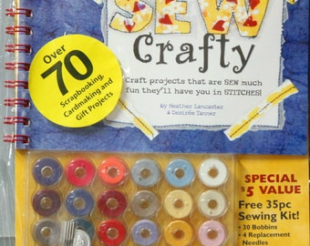 Sew Crafty Book & Bobbins Kit by Provo Craft