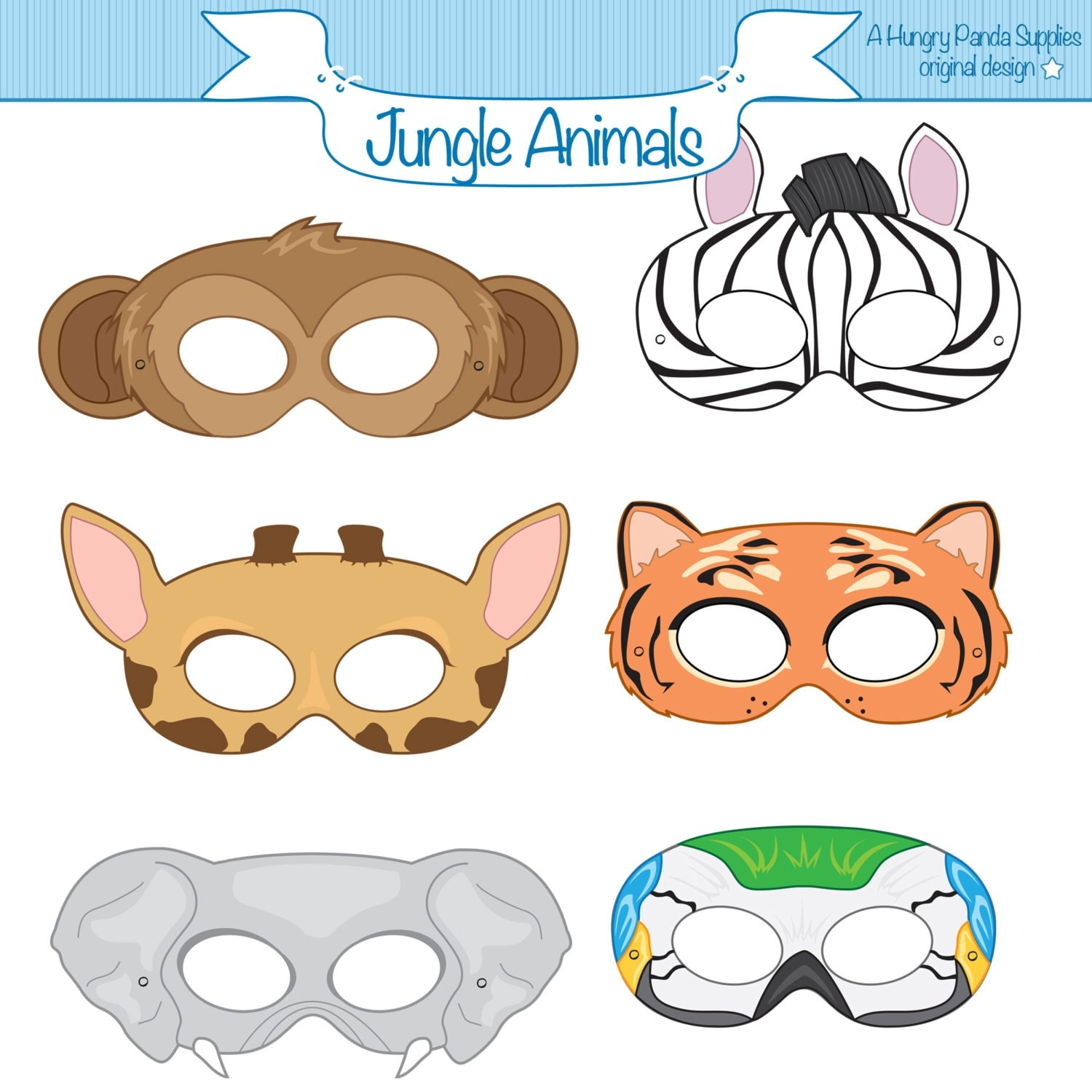 Clever image regarding animal masks printable