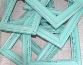 Painted Frame One Shabby Chic Vintage Light Aqua Blue Hand Painted Distressed Frame Made to Order