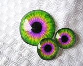 Glass eye cabochons