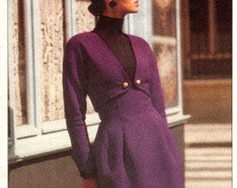 Christian Lacroix jacket & high-waisted skirt pattern -- Vogue Paris Original 2183