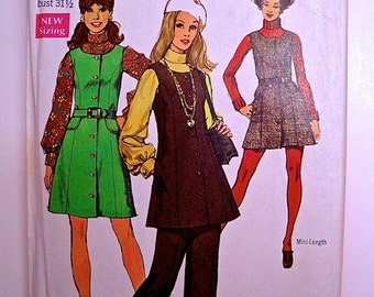1960s Simplicity 8396 - Jumper Dress and Pants Pattern