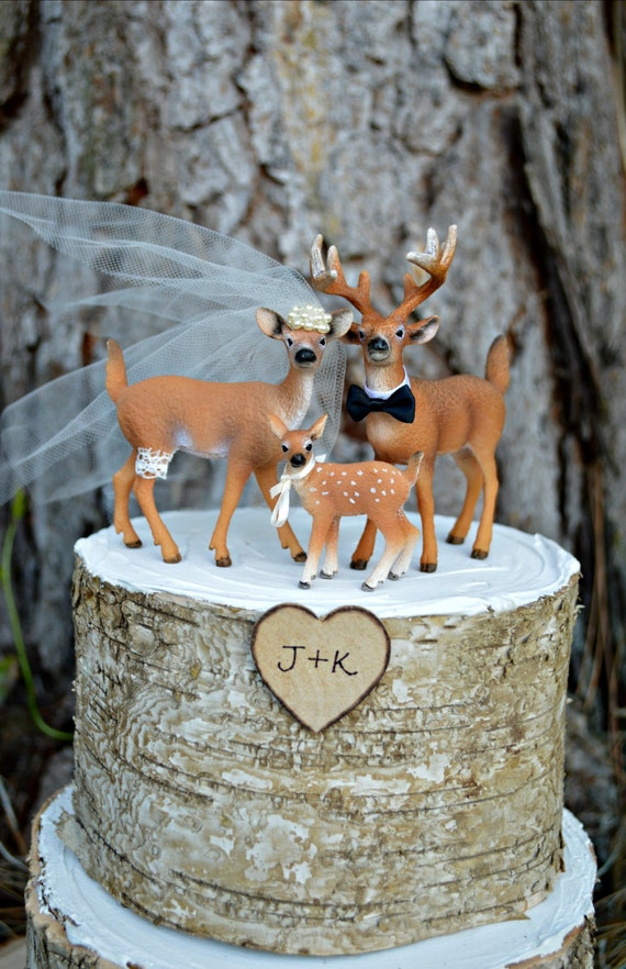Deer Family Wedding Cake