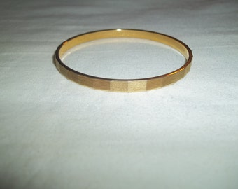 Monet Designer Signed Golden Bangle Bracelet