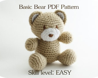 Crochet Patterns Of Animals : Free Easy Crochet Teddy Bear Patterns