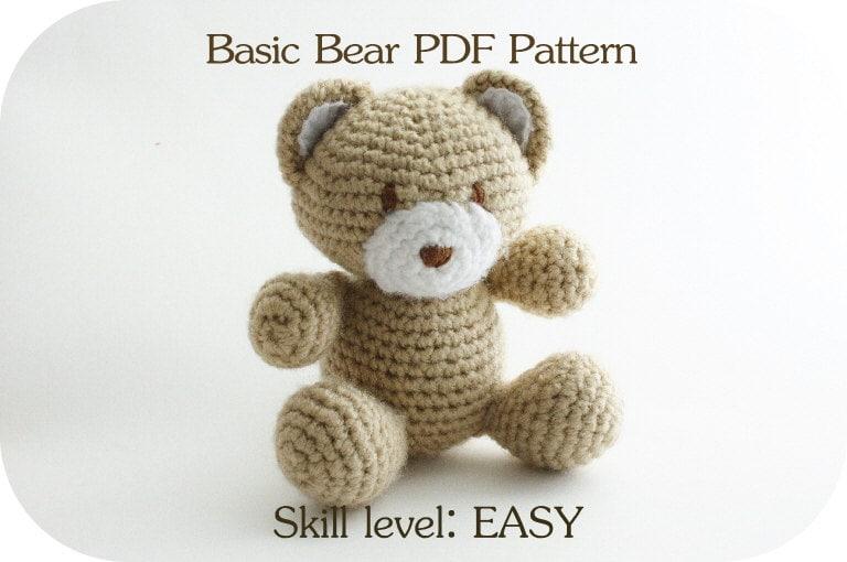 Basic Bear PDF Pattern amigurumi Teddy Bear crochet Bear