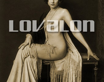MATURE... Doe Eyes... Deluxe Erotic Art Print... 1920's Vintage Nude Glamour Photo... Available In Various Sizes