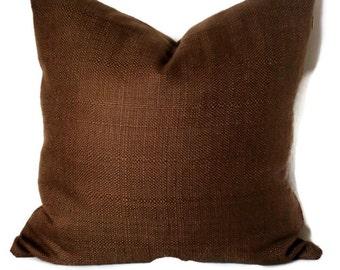 P Kaufmann Basket Weave Decorative Pillow Cover 18x18 20x20 22x22 or Lumbar Pillow Accent Pillow Throw Pillow Chocolate Brown