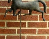 Primitive Folk Art Black Horse Weathervane Make~Do