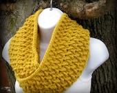 Crochet Scarf Pattern -- Weave Infinity Scarf -- Instant Download