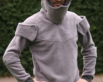 Knight Armour hoodie - Medieval hoodie for men - knight hoodie - medieval cosplay -knight