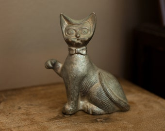 Metal Pussy Cat Coin Bank