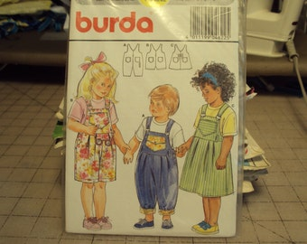 Childrens jumpsuit and jumper, country style, Burda pattern 4622,  uncut
