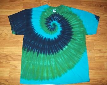 S M L Xl 2x 3x 4x 5x 6x Tie Dye Shirt, Kids, Adult, Plus size tie dye, Forest Spiral