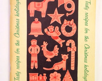 Vintage Softcover Cookbook 'Tasty Recipes for the Christmas Holidays' Provided by Pennsylvania Power & Light Company