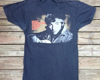 "original BRUCE SPRINGSTEEN ""Born In The USA"" Tour Shirt - 1984-1985 - Size Small"