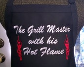 Apron Red Flames Groom Bachelor Party Wedding Gift