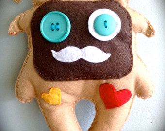 Brown Felt Monster