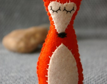 Felt Fox Plushie in Colour of Choice Made to Order
