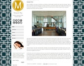 Monogram Blogger Template - Hollywood Regency Blogger Theme - Blogger Blog Template - Pemade Blog Design