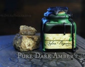 Natural solid amber perfume - PURE DARK AMBER - single note amber perfume - organic oil botanical perfume -