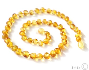 Baltic Amber Adult Necklace Rounded Honey Color Beads