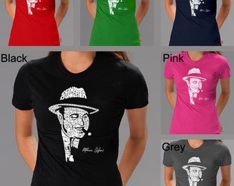 Women's T-shirt - Al Capone created out of the words Original Gangster