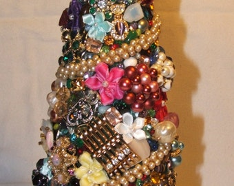 Vintage Christmas Jewelry Tree 9In.