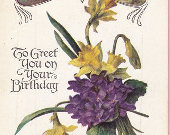 Ca. 1911 Birthday Greetings Postcard - 860