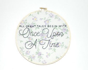 Once Upon A Time hoop wall art