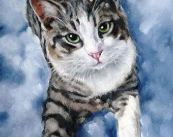 Pet Portrait, Cat Portrait, Animal Art, Custom Paintings, Oil Painting, 8x10