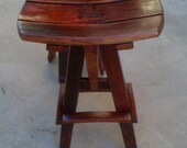 Bar Stool (Pub Chair) 100% reclaimed oak wine barrel product