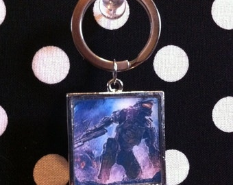 Master Chief keychain in silver