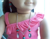 "American Girl 18 "" inch Doll ADJUSTABLE matching WESTERN style Necklace Earrings set Jewelry Accessories  Child"