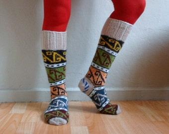 Knee High Knitted Socks, Wool Socks, Knee Hight Long Socks, Boot Socks,Winter Fashion, Gift under 50