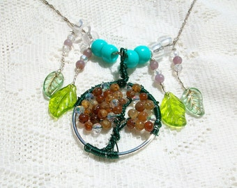 """Reserved For Erin  Wire Wrapped Tree of Life Necklace """" """"Tressa""""  Apple Tree"""