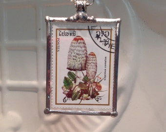 Clearance sale - Mushroom Pendant Indo-China Stamps Christmas Birthday Gift Statement Necklaces
